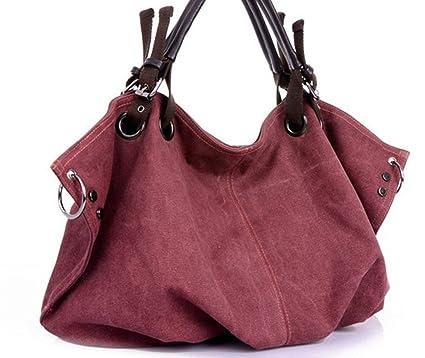 Amazon.com: Women Canvas Messenger Bags Handbags Female Tote ...