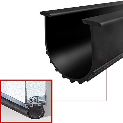 Garage Door Rubber Seal >> Garage Door Seals Bottom Rubber Weather Stripping Kit Seal Strip Replacement Universal Weatherproof Threshold Buffering Sealing Rubber 5 16 T Ends 3