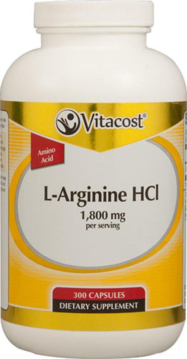 NSI L-Arginine HCl – 1.8 g – 300 Capsules