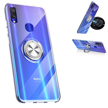 Amazon.com: Xiaomi Redmi Note 7 Funda, 360° Rotación Anillo ...