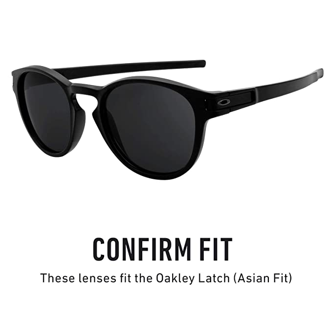 b55a6f3f6d8 Revant Replacement Lenses for Oakley Latch (Asian Fit) Elite Adapt Grey  Photochromic  Amazon.co.uk  Clothing