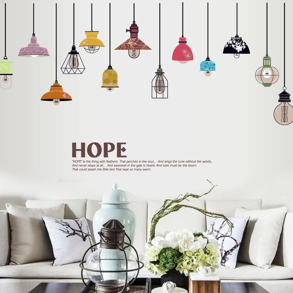 Hanging Lantern Wall Sticker Custom Stickers
