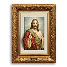 """Framirage, Wooden Wall Art Magic 3D Picture Frame Painting Prints View, Home Décor, 17"""" X 13"""", Christianity Jesus 070"""