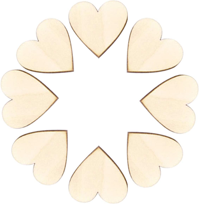 Wooden Love Hearts Shape Embellishments Craft Blank Wedding Decor Christmas