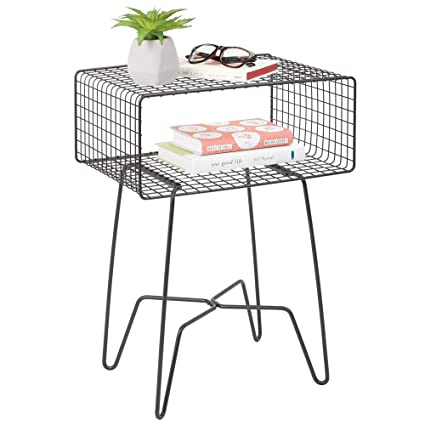 Amazon.com: mDesign Moderna mesa auxiliar de granja – Diseño ...