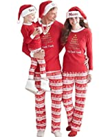 Feurry Christmas Family Matching Pajamas Jammies Sleepwear Sets for The Family Xmas Gift