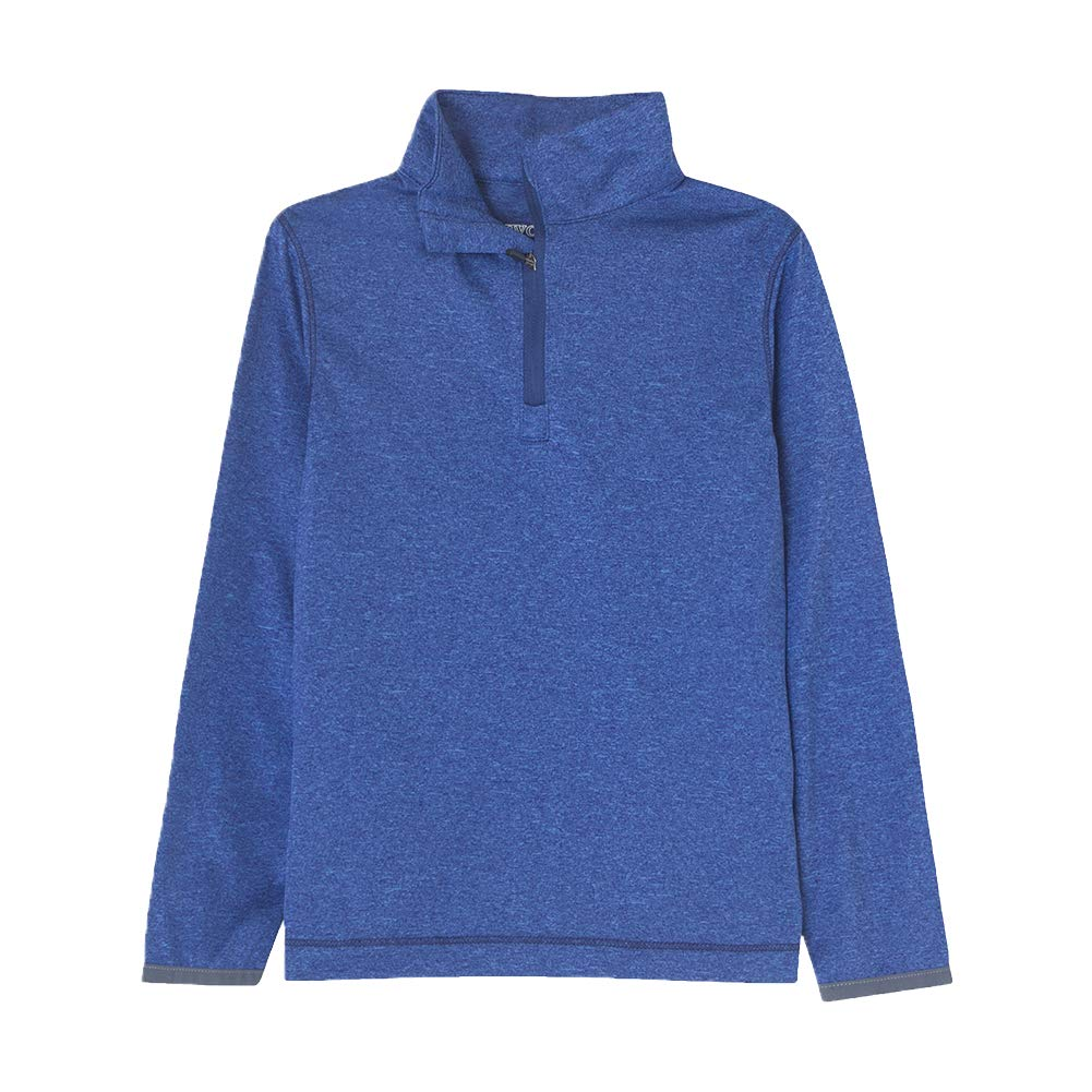 Boys Athletic Shirts Long Sleeve 1//4 Zip Pullover Sweatshirts Fit Running Workout for Youth ( Dry fit Moisture-Wicking )