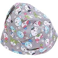 FENICAL 100% algodón Puro Estampado de patrón de Perros Sombrero de Belleza para Hombres Mujeres Mantenga el Cabello Limpio Gorra de Trabajo