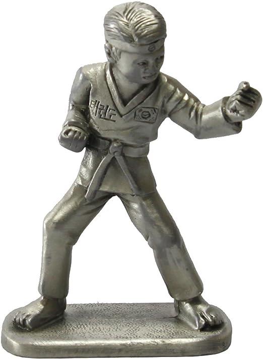 Taekwondo Punch Figurines Korean Folk Martial Arts Pewter Sculpture Statue Gift