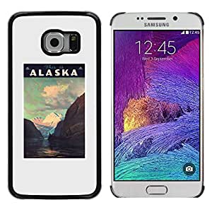 LECELL--Funda protectora / Cubierta / Piel For Samsung Galaxy S6 EDGE SM-G925 -- Mountains Winter Usa State --