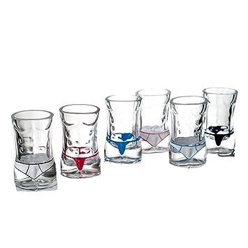 Danya B Male Torso Hunk Shot Glass  Set of 6. Amazon com   Danya B Male Torso Hunk Shot Glass  Set of 6
