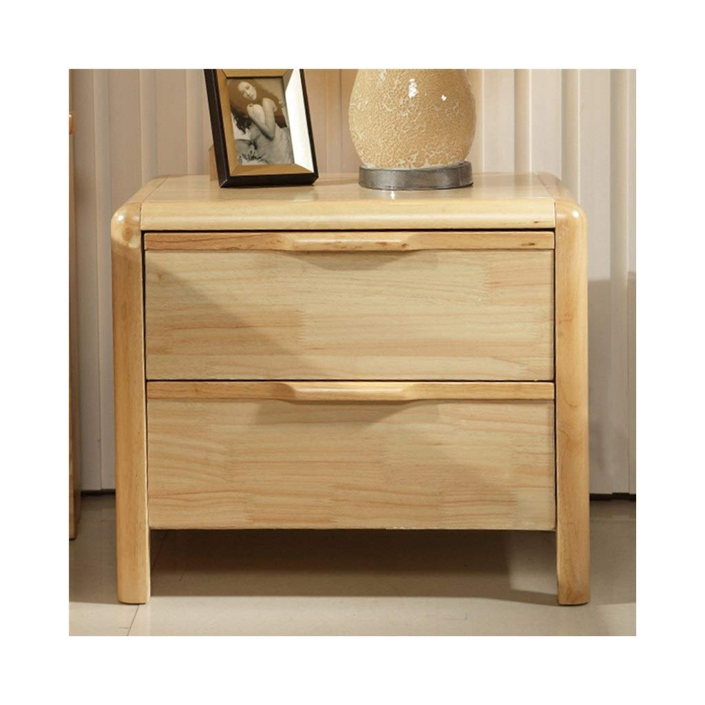 LQQGXLBedside Table Bedside Table Solid Wood Bedside Table Bedside Table with Double Drawer Storage Furniture Small Side Table (Size : 3) by LQQGXL