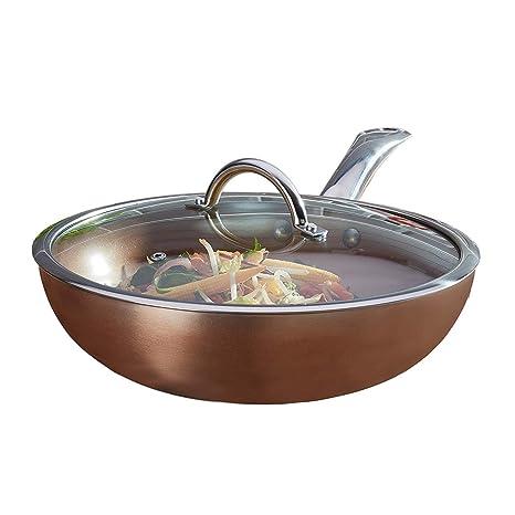 Cooks Professional Antiadherente Wok con Tapa 28 cm Efecto ...