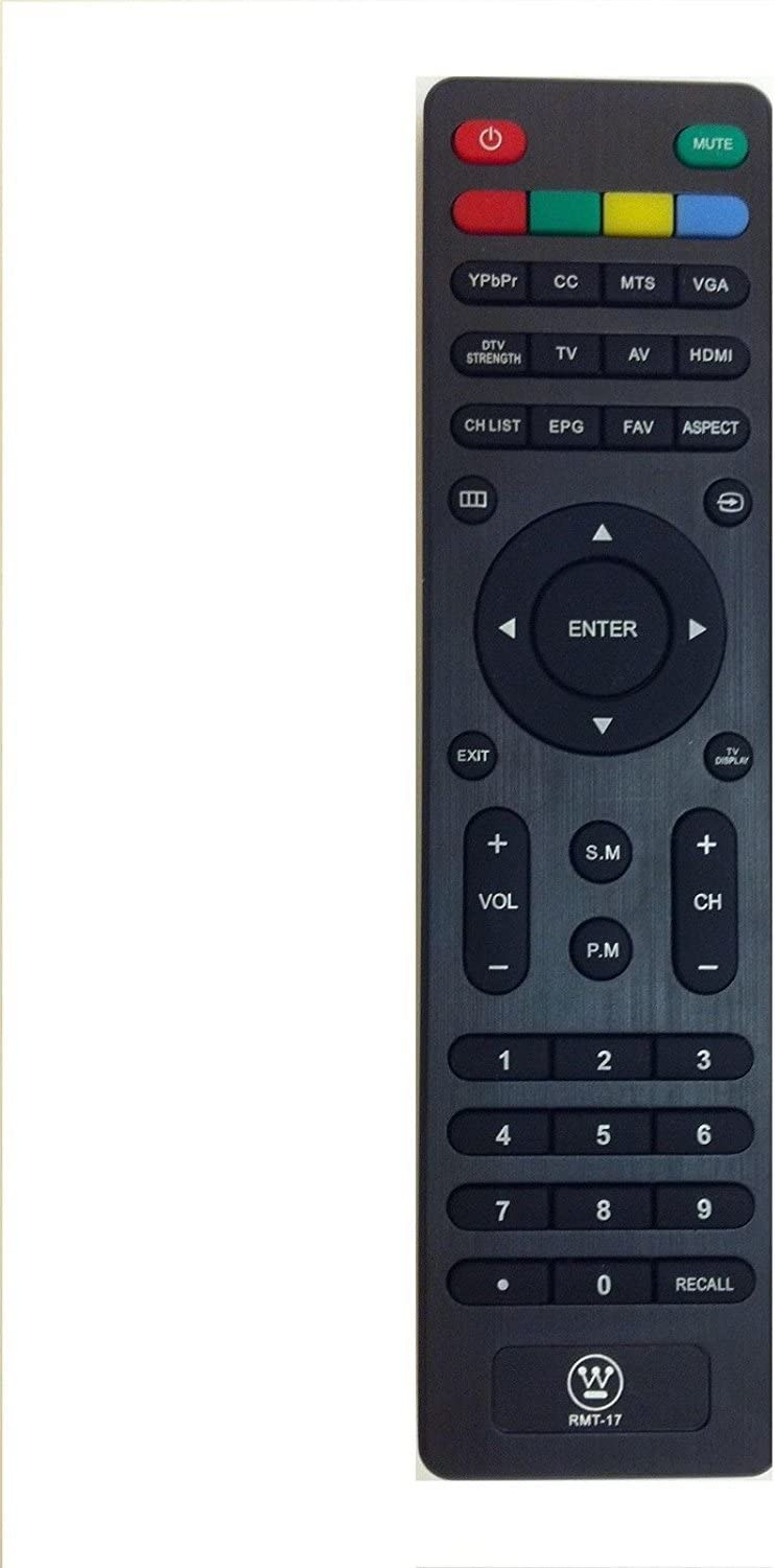 New RMT-17 RMT17 Remote Control for Westinghouse TV LD2480 LD3280 VR2218 VR3215 VR2418 EW24T3LW EW24T7EW W19S4JW LD3240 EW32S3PW EW19S4JW EW24T3LW