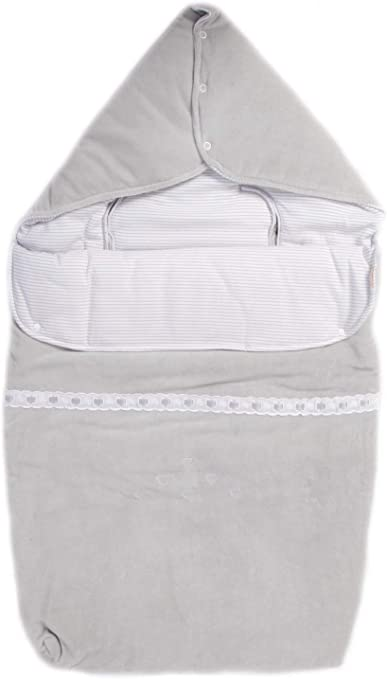 Saco nana capazo y grupo 0 bebe universal de algodón (danielstore) Color GRIS (20411): Amazon.es: Bebé