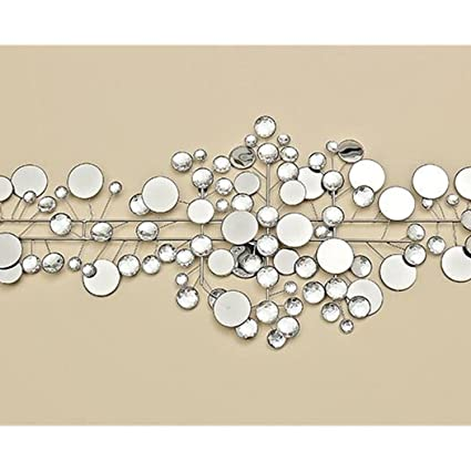 Amazon De Boltze Wanddeko 95 X 43 Cm Ruben Metall Silber