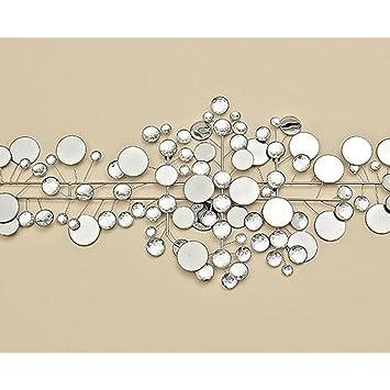 Boltze Wanddeko 95 x 43 cm Ruben, Metall, silber: Amazon.de: Küche ...