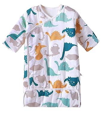 eac8265739380 Happy Cherry Combinaison Fille Garçon Gigoteuse Bébé Manches Longues Douillette  Coton Pyjama Sac de Couchage -