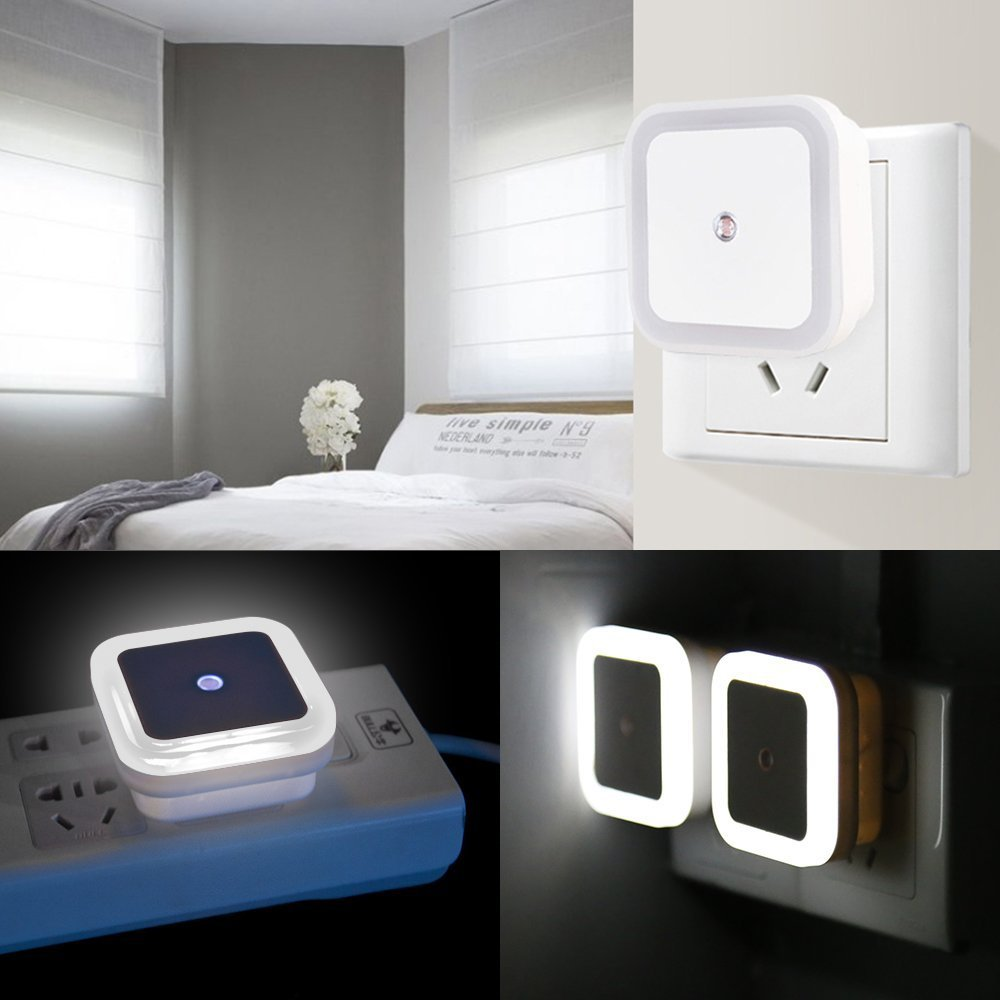 Led Night Light Lamp With Smart Auto On Off Sensor 6 Pack Keku 05w 230v Automatic Plug In Wall For Bedroom Bathroom Hallway Stairways