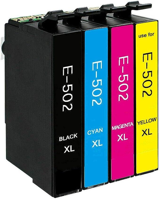4 Druckerpatronen Kompatibel Für Epson 502 Xl Für Epson Workforce Wf 2860 Wf 2865 Wf2860 Wf2865 Wf 2860dwf Wf 2865dwf Expression Home Xp 5100 Xp 5105 Xp 5115 Bürobedarf Schreibwaren