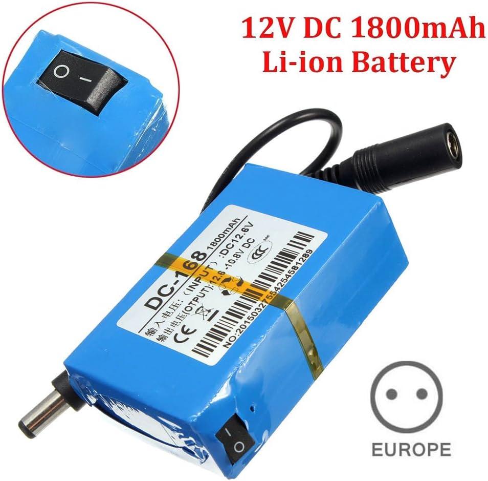 Mini batería portable, de Wildlead; CC-168 12 V; batería recargable de iones de litio, de 1800 mAh; para cámara CCTV
