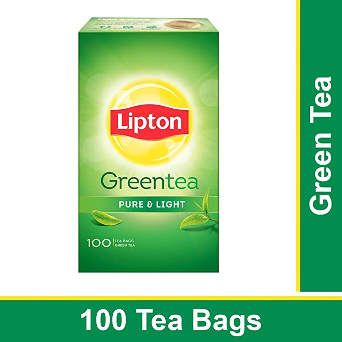 Lipton Pure Light Green Tea Bags 100 Pieces Amazon In Grocery