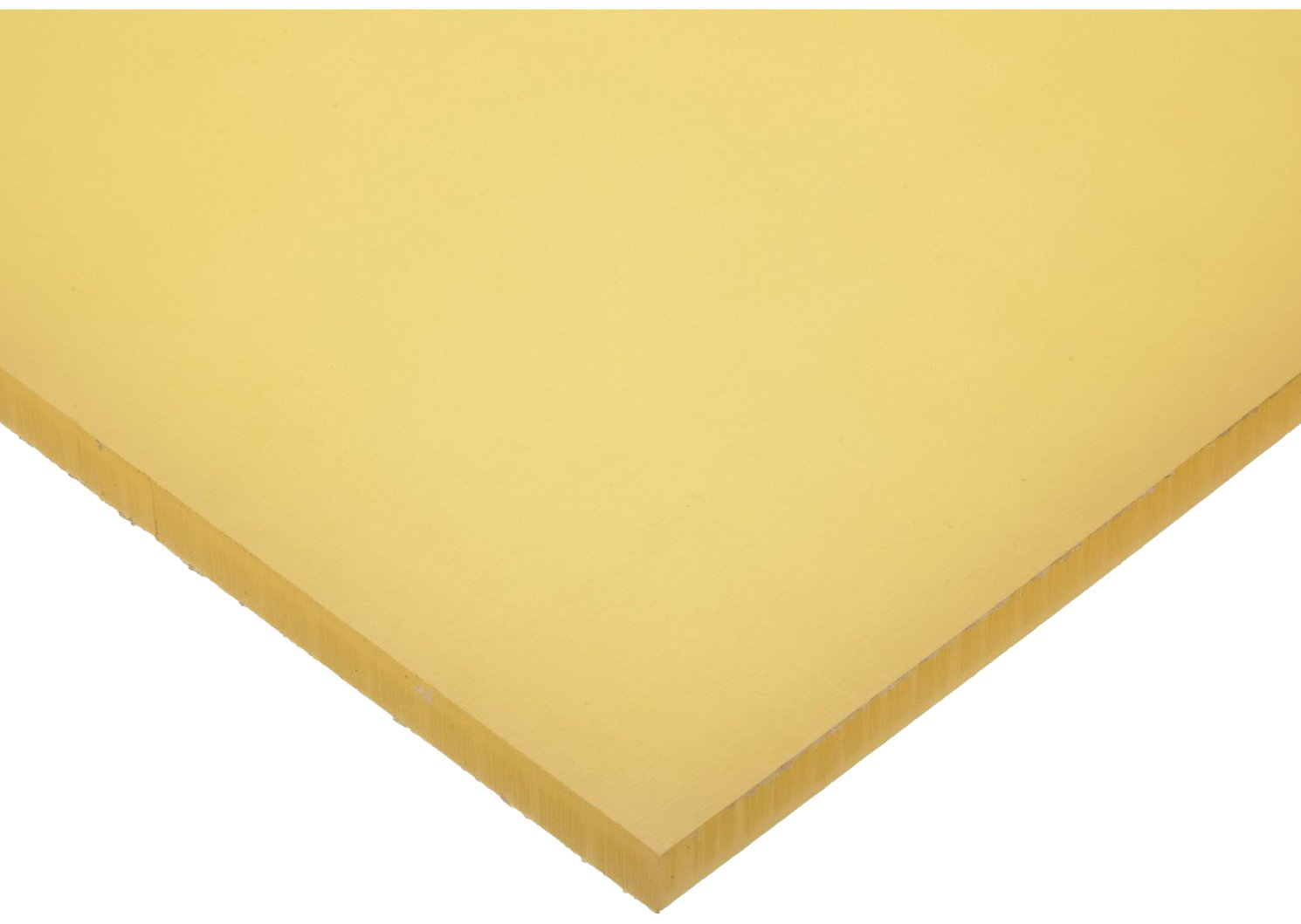 Polyurethane Sheet, No Backing, 40A Durometer, Smooth, ASTM D-624, Amber, 3/16'' Thick, 12'' Width, 12'' Length