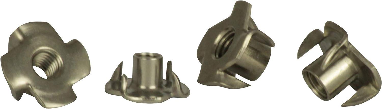 Einschlagmuttern M10 Edelstahl A2 10 St/ück Gewinde-Schlagmuttern Einpressmuttern V2A