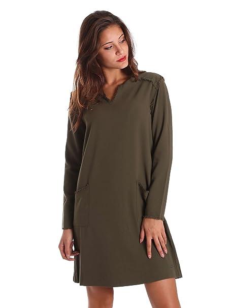 M Abbigliamento Donna Pepe Vestito Pl952048 Verde Amazon it Jeans XqBw47