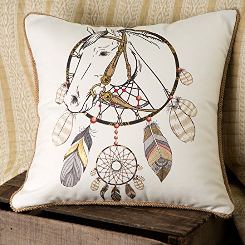 Rod's Horse and Dreamcatcher Pillow
