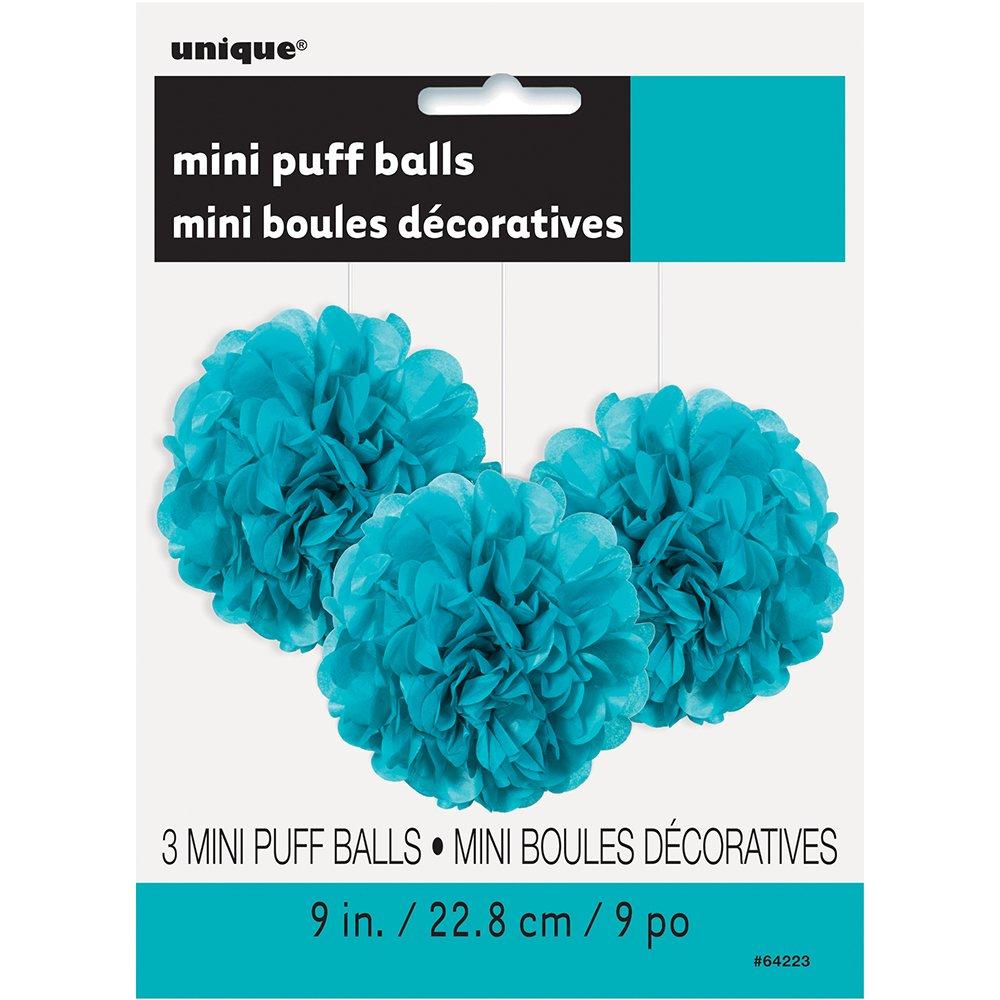 Unique Party 64243-25cm Lanterna Rotonda in Carta Blu Reale