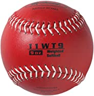 Markwort Color Coded Weighted 11-Inch Softball (9-Ounce, Red)