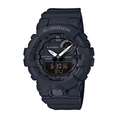 Casio G SHOCK Reloj Digital Contador de pasos Sensor de movimiento Aplicación de deporte gratuita para descargar 20 BAR Negro para Hombre GBA 800 1AER