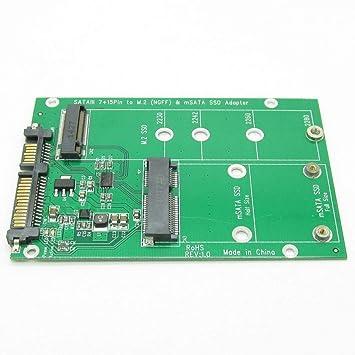 Disco Duro USB 3.0 7(15 Pines a mSATA y NGFF M.2 SSD 2 en 1 Combo ...