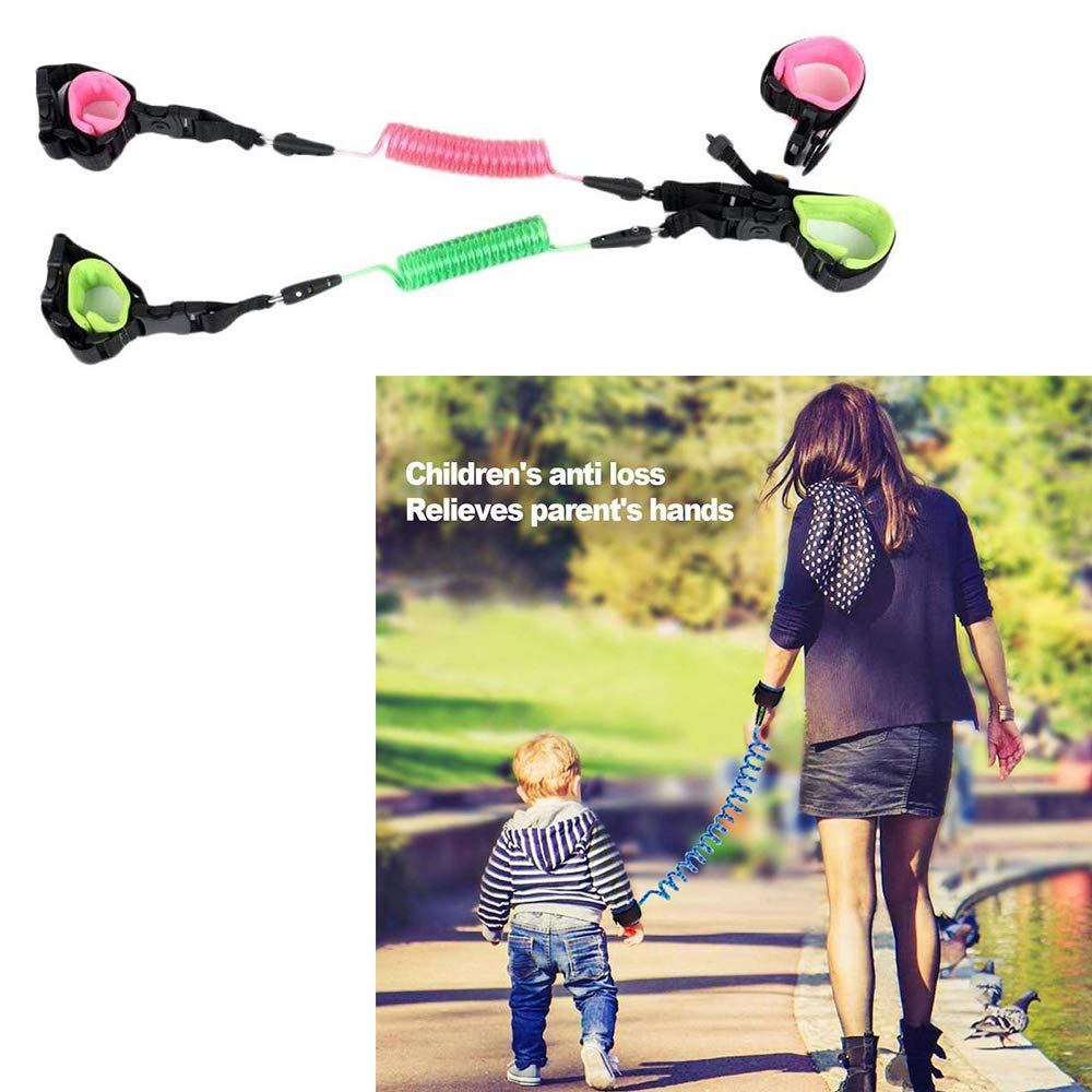 DREAMVAN Children Protection Belt Kids Anti-Lost Traction Rope Double Wrist Link Harnesses & Leashes