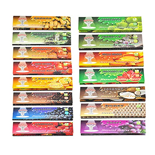 Satelliter Hemp Wraps, Hemp Rolling Papers, 15 Kinds of Fruit Flavored (110mm)(480 PC)