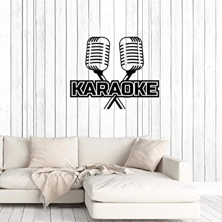 ziweipp Karaoke Bar Micrófono Mic Music Art Decal Stickers Mural ...