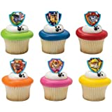 DecoPac Paw Patrol Ruff Ruff Rescue Cupcake Rings, Pack of 24 Assorted Rings