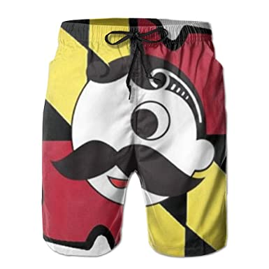 5996949c08f9e Maryland Flag Mens Cool Board Shorts Loose Fit Drawstring Closure Solid Swim  Trunks Activewear Short