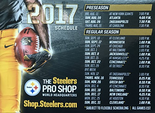 Pittsburgh Steelers 2017 Magnetic Schedule OFFICIAL