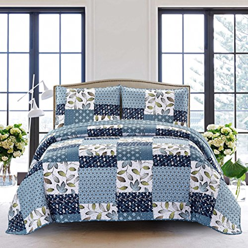 SLPR Pacific Coast 2-Piece Lightweight Printed Quilt Set (Twin) | with 1 Sham Pre-Washed All-Season Machine Washable Bedspread (Pacific Bed Set)