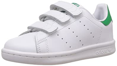 adidas Stan Smith, Sneakers Basses garçon, Blanc (WhiteWhiteGreen)