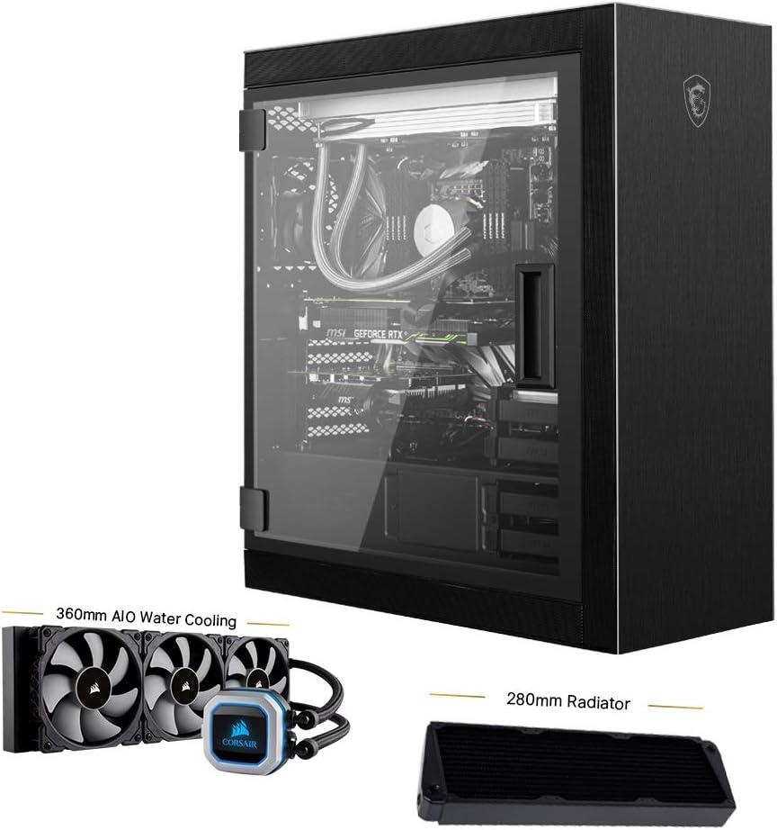 MPG SEKIRA 500P Mid-Tower Caja de PC Gaming (Negro, 4 x 120 mm Ventiladores Incluidos, USB 3.2 Gen2 Type-C, 4 mm Panel Cristal Templado, EATX, ATX, mATX, Mini-ITX): Amazon.es: Informática