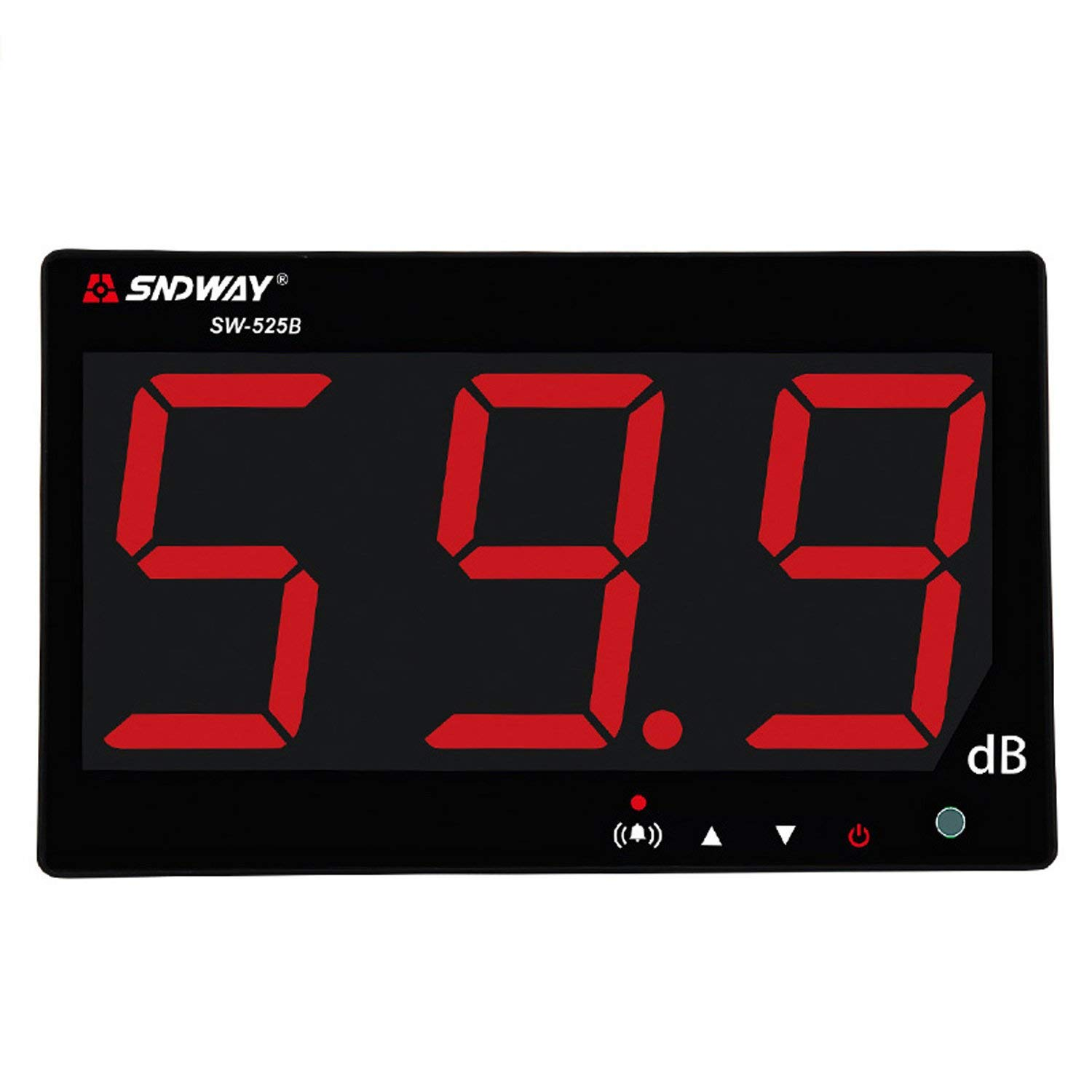 SNDWAY SW-525B 30-130dB Digital Sound Level Meter with Large LCD Display Noise Meter Decibel Wall Mounted Hanging by SNDWAY