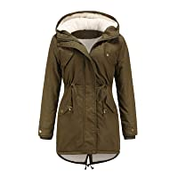 Fashion Women Drawstring Hoodie Coat Warm Inside Fleece Padded Coat Slim Zipper Coat Polyester