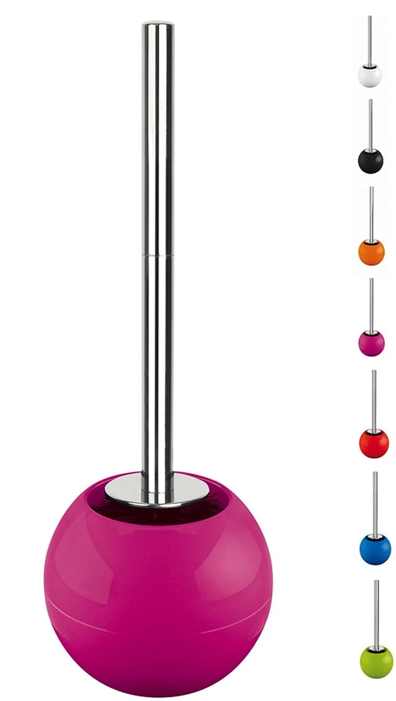Spirella 10.17248 - Porta rotolo di carta igienica sferico, colore: Rosa scuro lucido