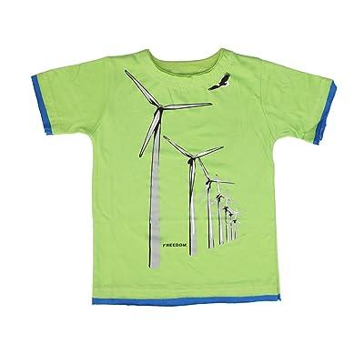 Little Traveler Little Boys' Windmill Destruct Tee in Lime (c)