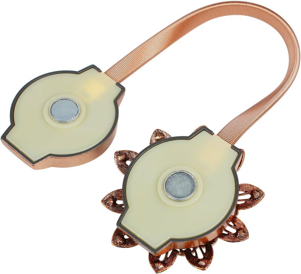 Andux 1 Paar Vorhang Raffhalter Magnet Raffhalter Clip f/ür Haus Dekoration CLGG-01 Mehrweg Gold-gelb