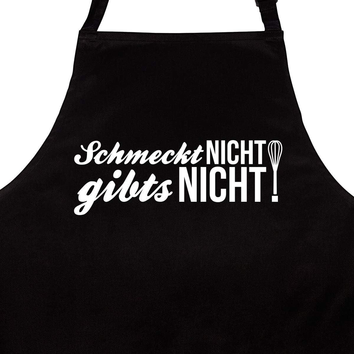 K/üchensch/ürze Latzsch/ürze mit Verstellbarem Nackenband Kochsch/ürze WANDKINGS Sch/ürze Schmeckt Nicht Gibts Nicht Grillsch/ürze