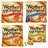 Bundle (4 Items) Werther's Originals Variety Pack (Original Hard Candies/Chewy Caramels/Creamy Caramel Filled/Caramel Apple Filled) by Werther's